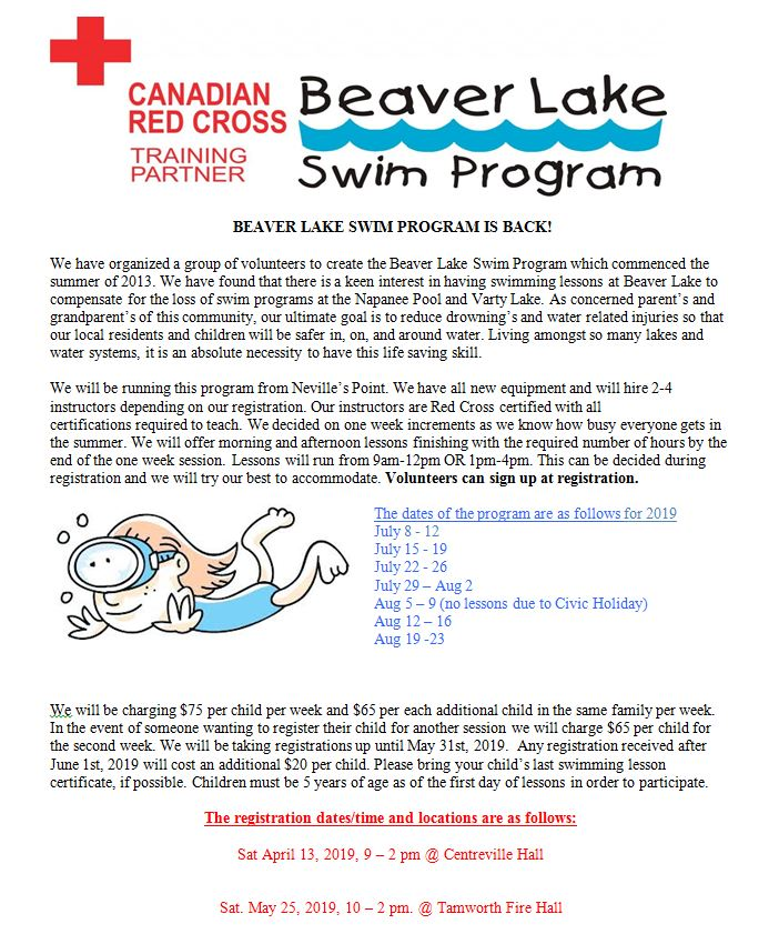 Beaver Lake Swimn Poster